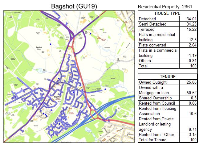 Leaflet Distribution Bagshot Gps Tracked