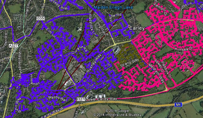 Leaflet Distribution Berkshire - GPS Tracked Image