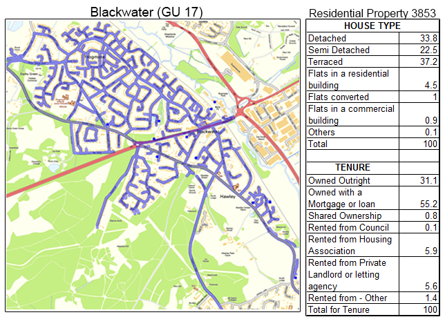 Leaflet Distribution Blackwater - Geoplan Image